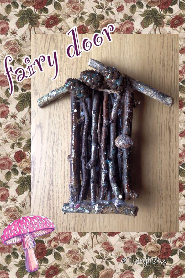 Homemade fairy door.
