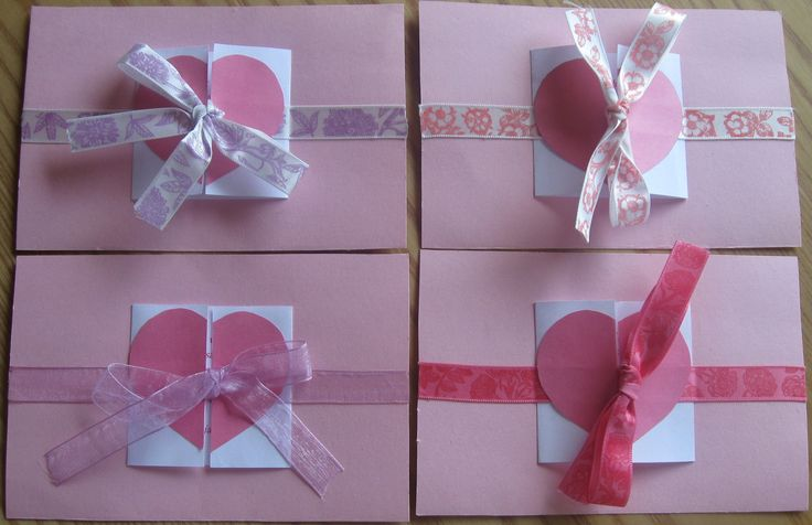 Invitation card with opening heart
