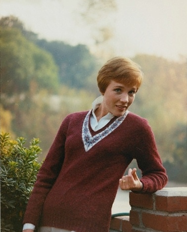 julie andrews will always be my hero. She's so beautiful in the sort of… unordinary, perfect way. Instead of being like everybody else in her day, she chopped off her hair and dressed plainly. And she was still beautiful.