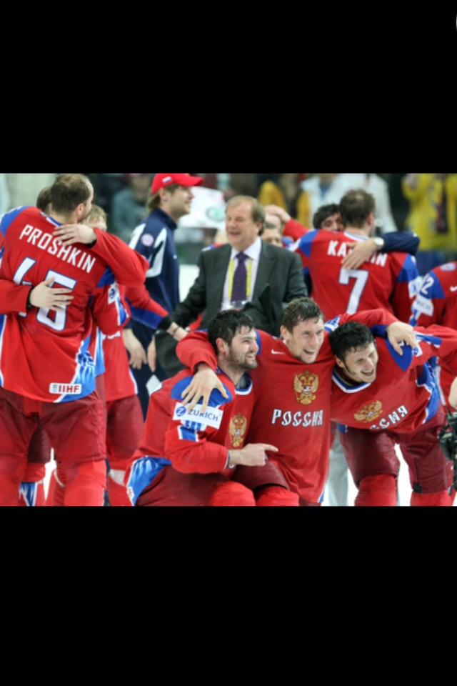 There are many sports played in Russia including team handball, gymnastics, skiing, rugby, martial arts, weightlifting, volleyball, boxing, and wrestling. But the 4 most common sports in Russia are: ice hockey, basketball, bandy, and football. This is a picture of a few of the players from the Russian men's national ice hockey team, the national ice hockey team of Russia, who are currently ranked first in the IIHF World Rankings.