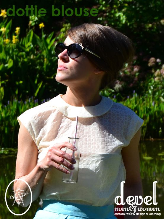 My Dottie Blouse | 60's Inspired, light and airy  and perfect for wearing as a summer wedding guest.