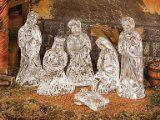 Waterford Crystal Nativity Set of 6, Includes: Joseph, Mary, Baby Jesus, Melchoir, Balthazar, Gaspar