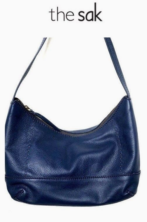a7afb8dea717 THE SAK BLUE PEBBLED LEATHER HOBO HANDBAG PURSE  hobohandbags leather hobo  handbags  BigLeatherHandbags