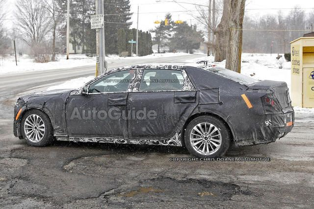 Not only tested for winter road conditions, also cleared the 'abominable road in winter' test. I have a test site for them - winding mountain roads of Nor-Cal, State HWY 44 - pretty please, Cadillac! Cadillac's 'Masked Rider' - an Elmiraj inspired RWD spied by AutoGuide.com.