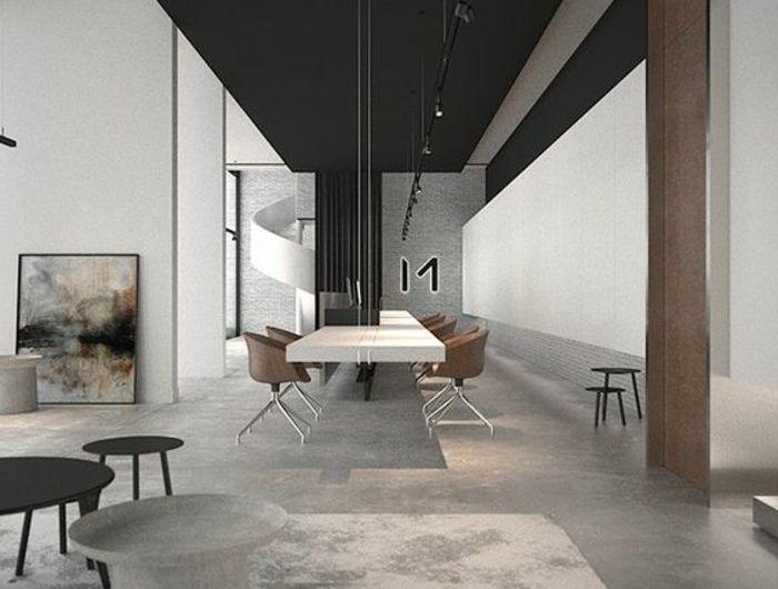 1001 Idees Pour Amenager Une Chambre En Longueur Des Solutions Petits Espaces Comment Amenager Une Chambre Table Blanc Laque Et Deco Chambre