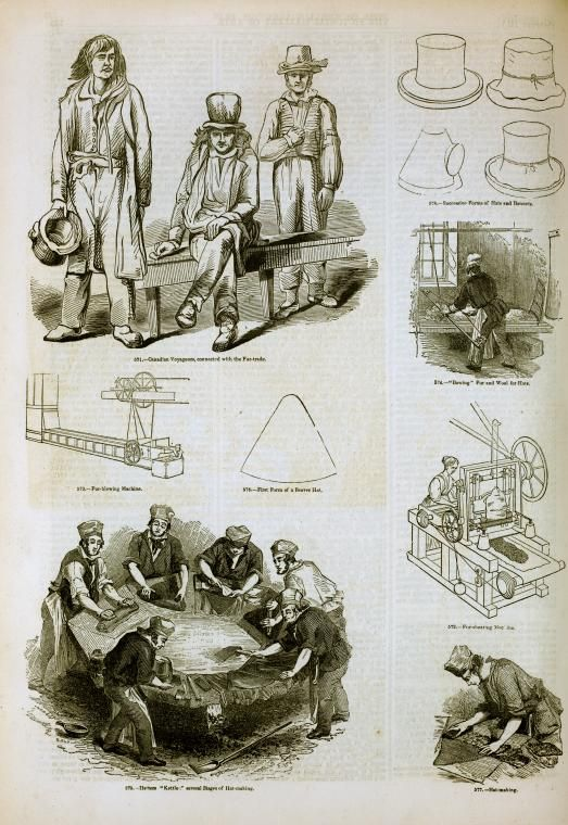 'Mad hatter disease', or 'mad hatter syndrome', is a commonly used name for occupational chronic mercury poisoning among hatmakers whose felting work involved prolonged exposure to mercury vapours. The neurotoxic effects included tremor and irritability characteristic of erethism. Using mercuric nitrate to treat the fur of small animals for the manufacture of felt hats began in 17th-century France, to England & by the end of the century. the Victorians used expressions like 'mad as a hatter'