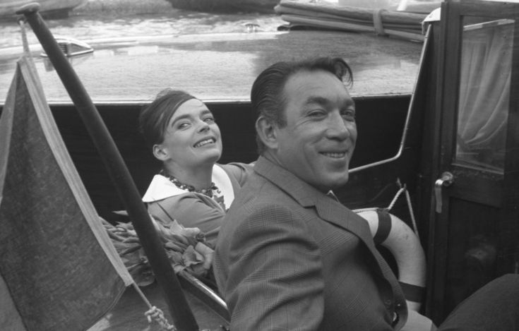 Anthony Quinn and Barbare Steele in Venice, 1959