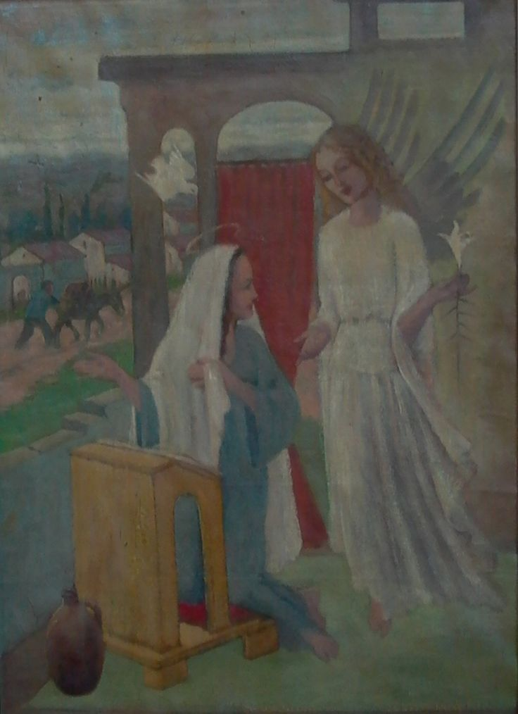 Gabriel ontmoet Maria.