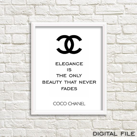 Style your lovely home with this Chanel wall art poster. This is for sure…