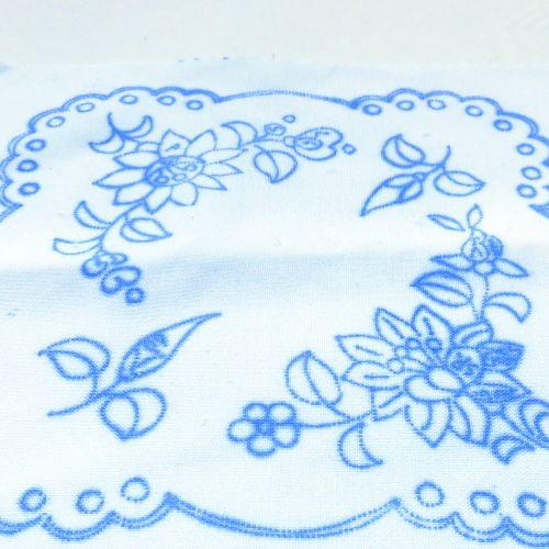 ハンガリー刺繍図案入りクロス-カロチャの図案