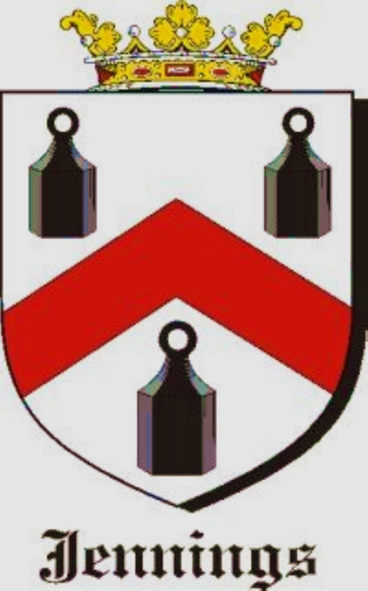 Jennings Coat Arms Family Crest