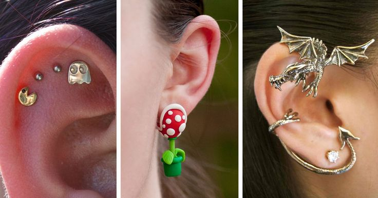 18+ Of The Most Creative Earrings For Geeky Girls   Bored Panda