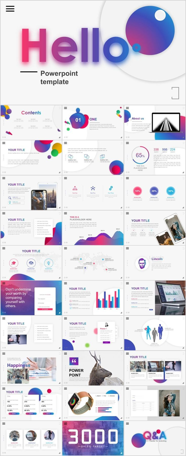 31 best multicolor charts report powerpoint template graphic