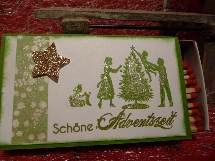 Titelbild Schoenes Aus Papier Von : Dekorative xxl streichholzschachtel weihnachten von