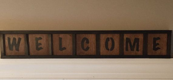 Barn Wood Welcome Sign by MandJsCrafts on Etsy
