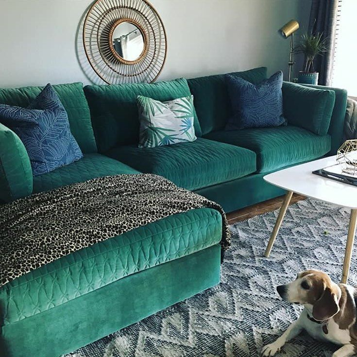 Our Mor Sectional Looks Right At Home With Fashionfactorial Living Room Decor Apartment Green Sofa Home