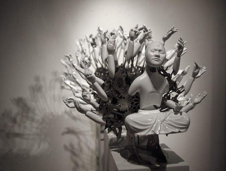 Buddhist mechanical sculpture, by Zang, Zi-Won, South Korea