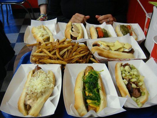 Hot Doug's- Chicago, IL : Duck Fat Fries and Foie Gras Hot Dogs
