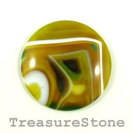 Cabochon, agate (dyed), 44mm. Sold individually.