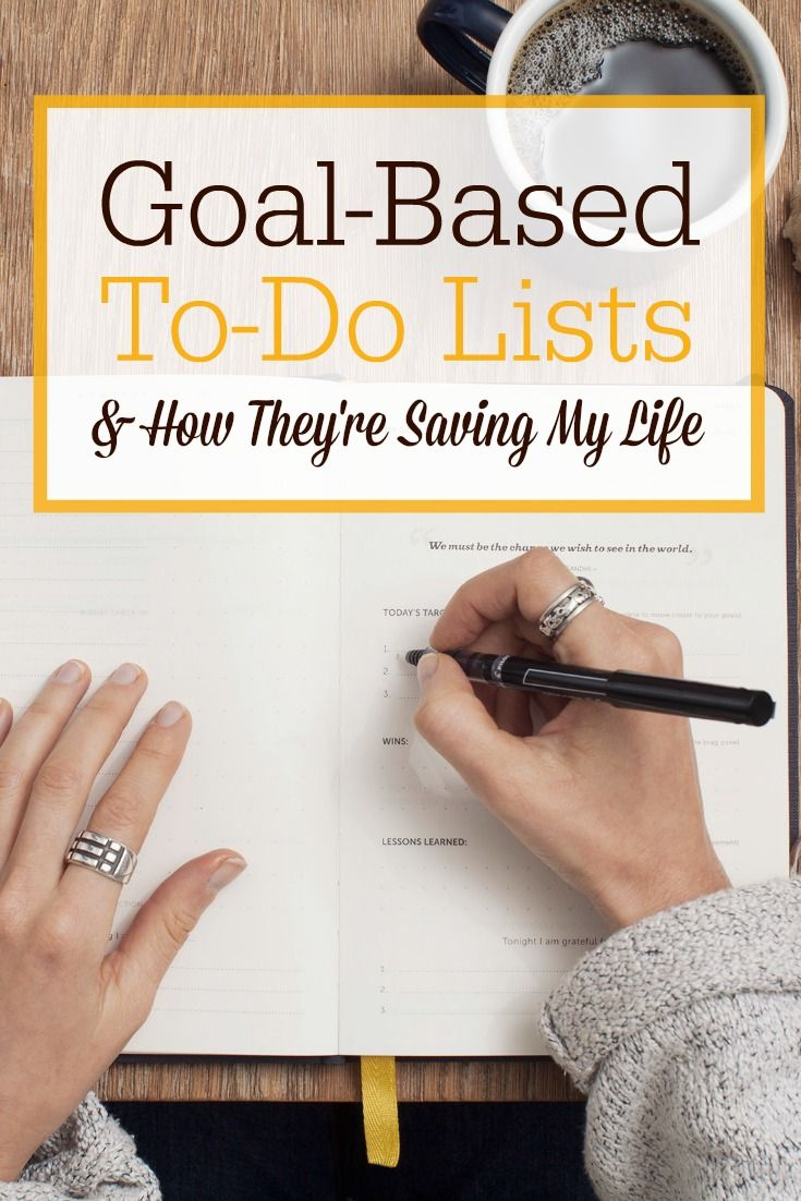 """Want to get some of the BIG goals crossed off your to-do list? I've been using a new system this year called """"goal-based to-do lists."""" It's a life saver!"""