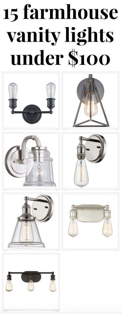 Best 25 farmhouse vanity lights ideas on pinterest - Farmhouse bathroom vanity lights ...