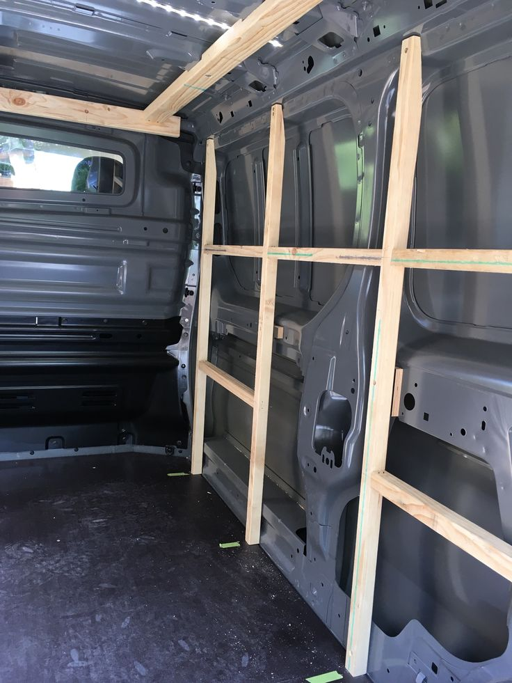 Carpentry van fitout phase 2: Frame out the walls and roof.