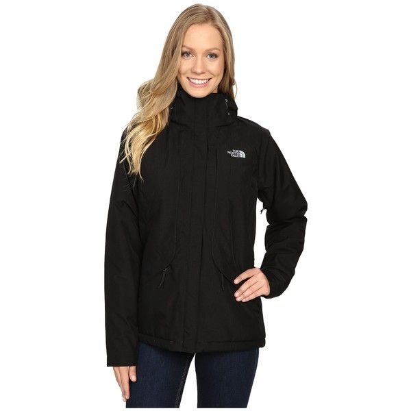 The North Face Inlux Insulated Jacket (TNF Black) Women's Jacket ($199) ❤ liked on Polyvore featuring activewear, activewear jackets and the north face