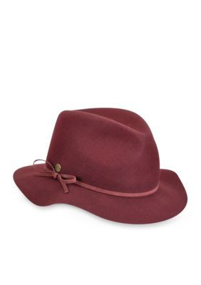 Karen Kane Women's Raw Edge Fedora With Band -  - No Size