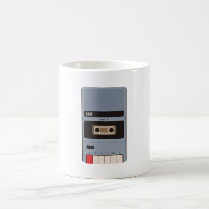 #Cassette Tape Recorder Coffee Mug - #office #gifts #giftideas #business