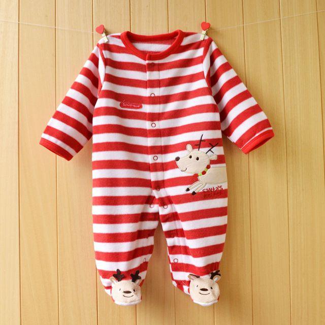 A Roupa Do Bebê Recém-nascido Primavera outono Macacão de Bebê de Natal Roupas de Bebê Menino Roupa Infantil Macacões Bonitos Do Bebê Meninas Roupas