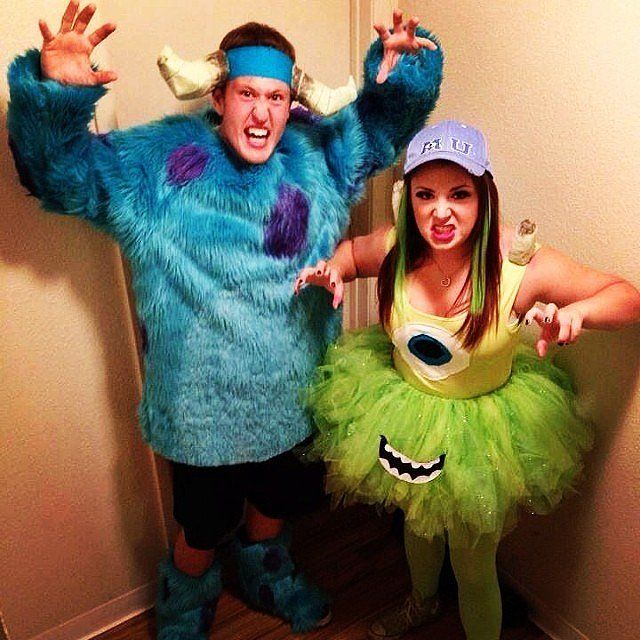 Sulley and Mike — Monsters Inc. Halloween couple costumes