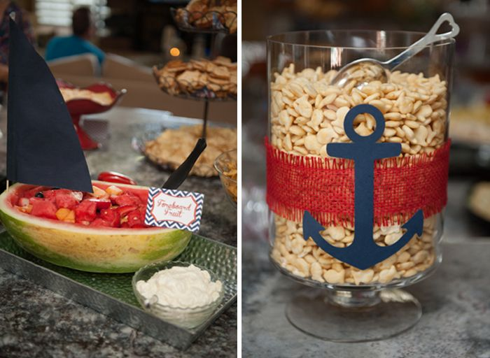 Co ed nautical baby shower for Anchor decoration party