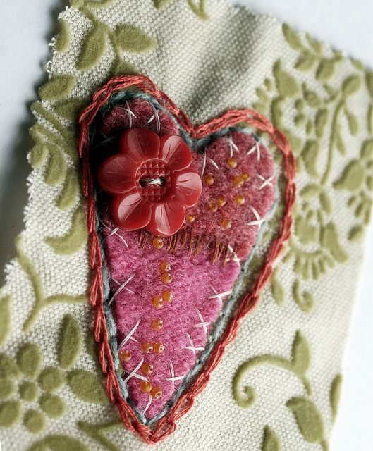 pink-felt-heart by Rebecca Sower, via Flickr