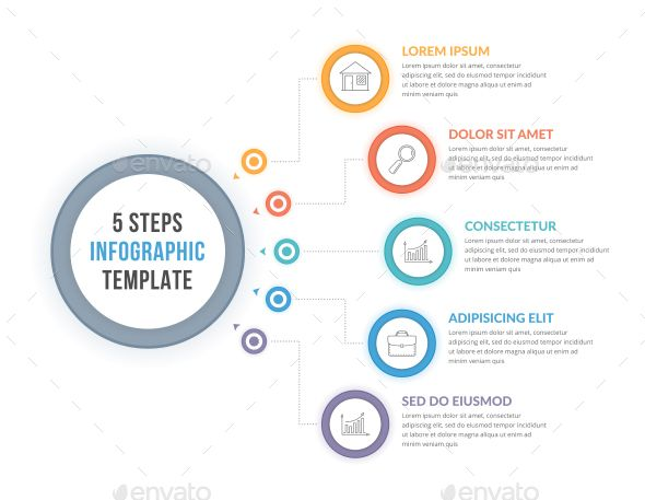 5 Steps Infographics #chart #element  • Download here → https://graphicriver.net/item/5-steps-infographics/21419696?ref=pxcr