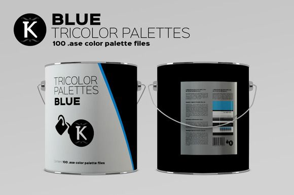 Blue Tricolor Palettes by Keboto on @creativemarket