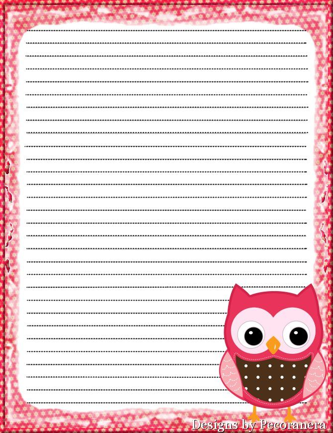 23 best owl border paper free printable images on Pinterest Owls - print writing paper