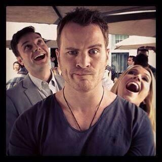 Rob Kazinsky (Ben/Warlow) and the Newlins!