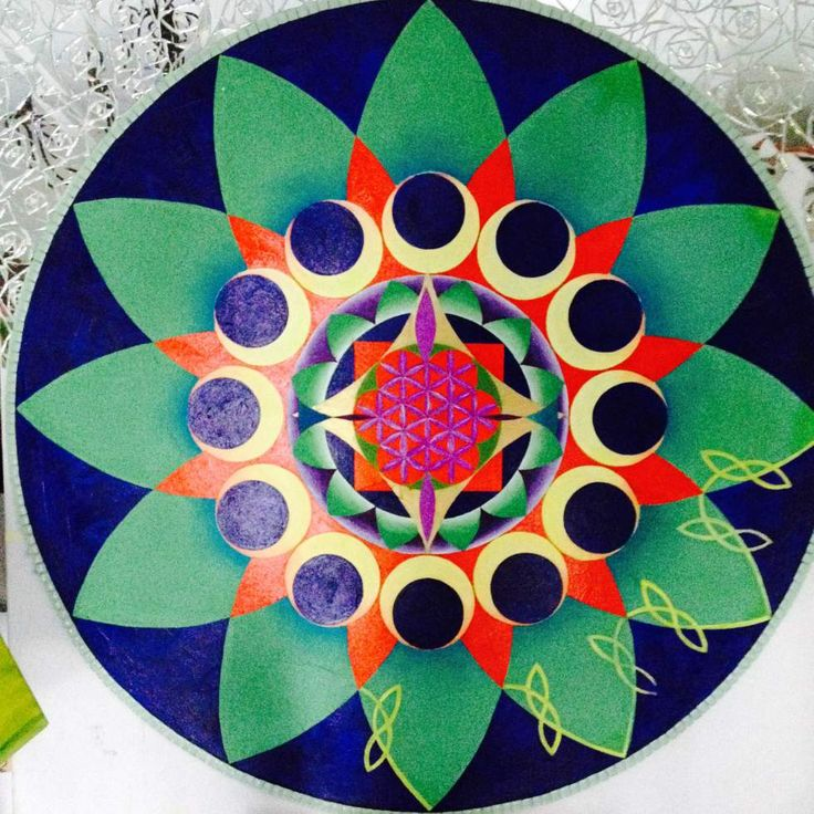 My first mandala painting