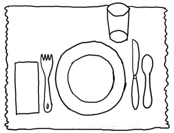 dinner table coloring page - photo #17