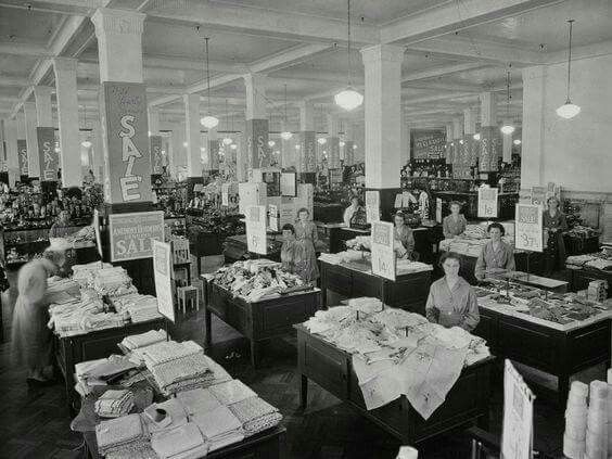 Sales floor at the Anthony Hordern and Sons Department Store in Sydney in the 1930s.