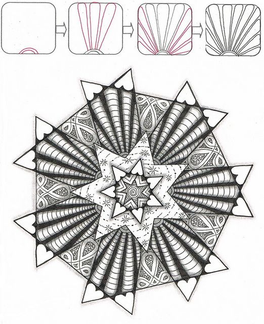 2253 best ZenTangle Instructions /Steps /How To /Patterns