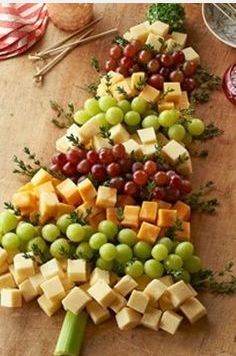 Christmas Tree Cheese Board Appetizer idea