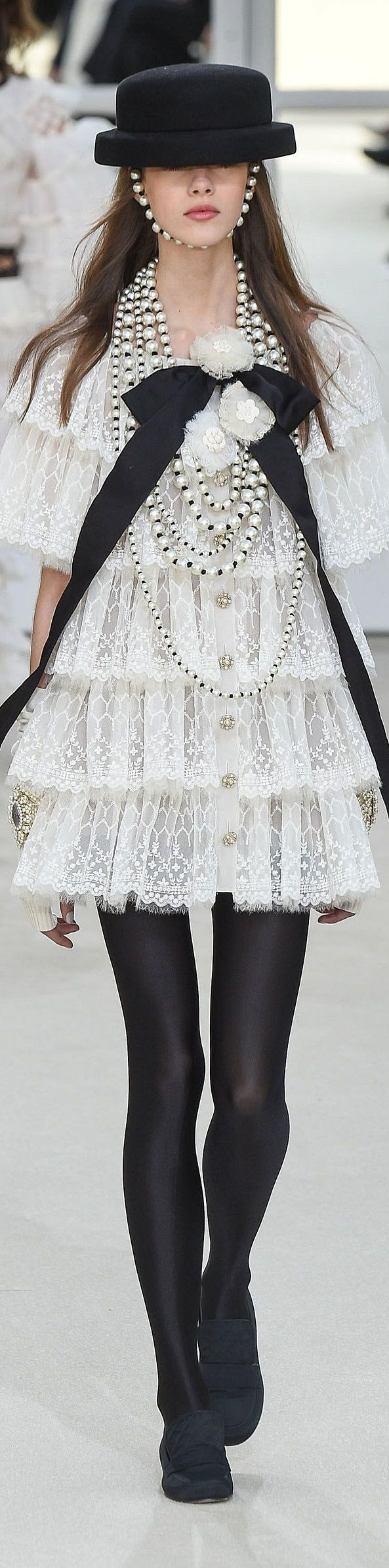 Chanel fall 2016 RTW. Chanel is showing a lot of black for Fall 2016.
