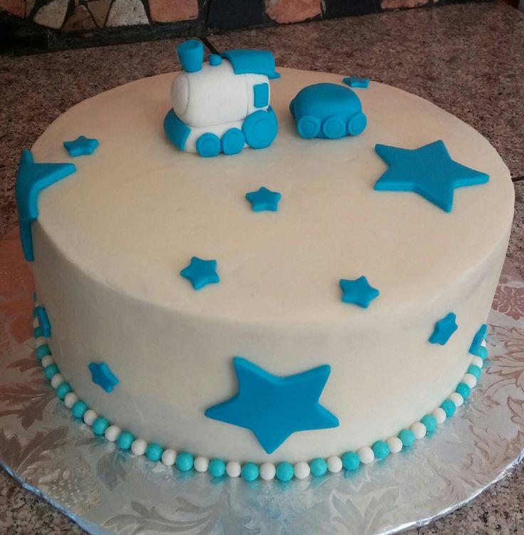 Train Baby Shower Cake Part - 46: Train Shower Cake