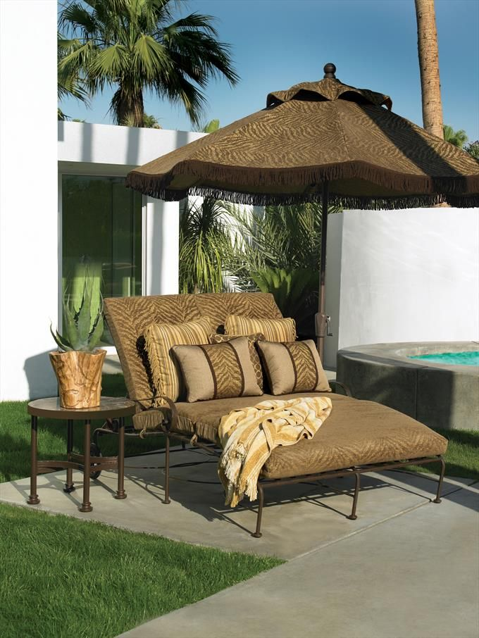 Ow Lee Outdoor Metal Double Chaise Lounge