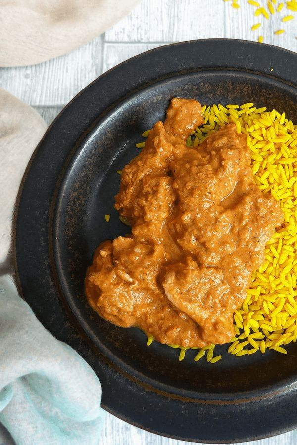 Hidden Vegetable Garlic Chilli Chicken Curry With Turmeric Rice