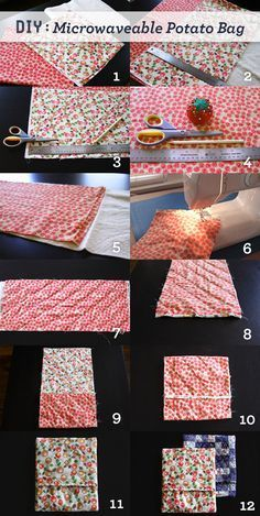 Brewed Together: DIY Microwaveable Potato Bag-Dont look at this unless you wanna know what you're getting for Christmas!