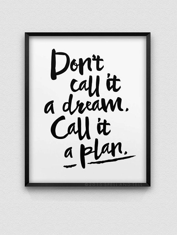 printable 'call it a plan' motivational wall art // instant download print // home decor // fitness motivation // inspirational quote