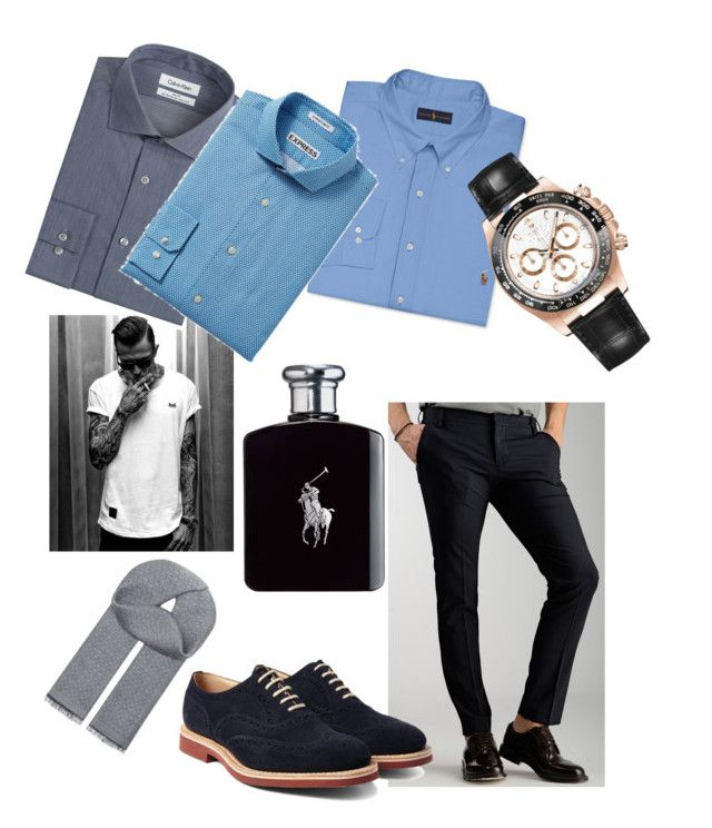 """Future husband"" by fashion-girl-katrina on Polyvore featuring Entre Amis, Church's, Calvin Klein, Polo Ralph Lauren, Express, Rolex, Ralph Lauren, Salvatore Ferragamo, women's clothing and women"