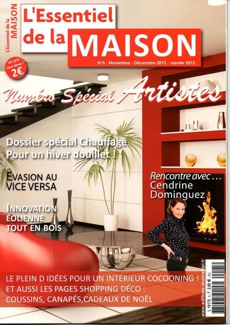Article sur Martine belfodil dans le magazine L'Essentiel de la Maison (2012)